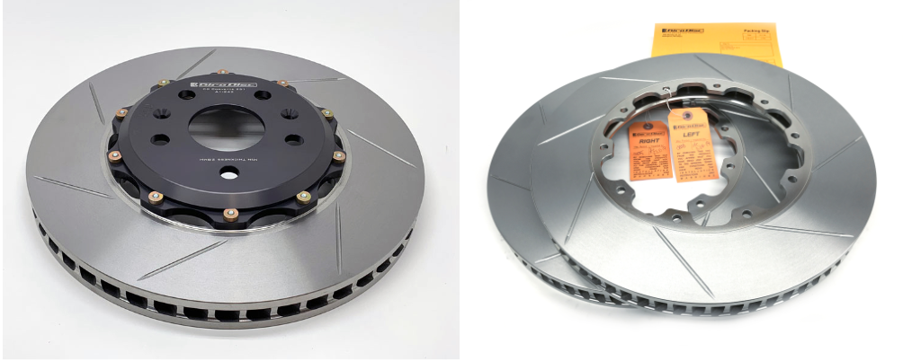 Two piece high performance brake rotors by Girodisc.
