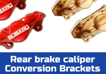 Click here to learn what you need to swap gold Brembo or red FHI rear calipers on your Subaru